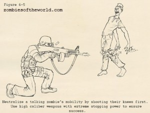 Illustration from a government anti-zombie combat manual