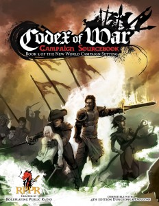 Front cover for the Codex of War - a New World Campaign PDF