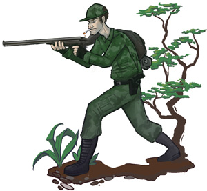 An armed survivalist
